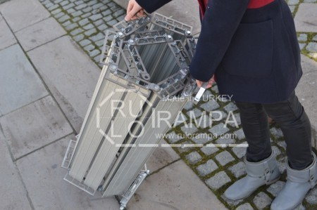 Rulo Rampa Engelli Rampası Tekerlekli Taşıma